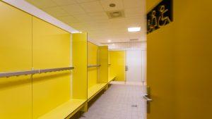 zwembad interieur hellevoetsluis hermeta interieurbouw sanitaire wanden zitbanken gardelux